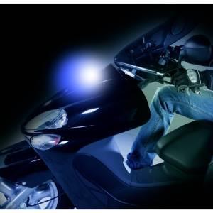 Proiettore luminoso per moto SHINE, bianco e blu