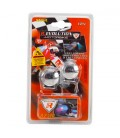 2-LED adhesive lights SNAIL, red