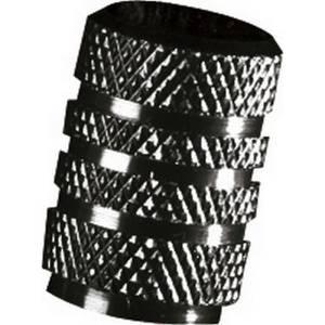 Coprivalvole in alluminio RACE, nero