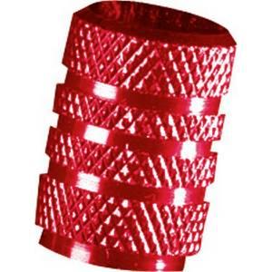 Coprivalvole in alluminio RACE, rosso