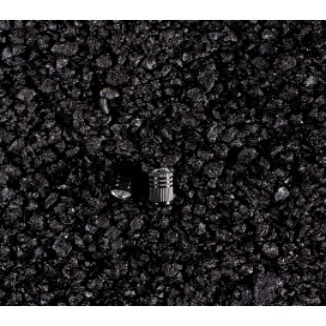 Coprivalvole in alluminio CRISTAL, nero