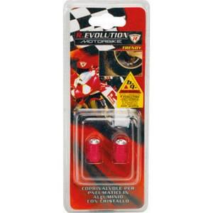 Coprivalvole in alluminio CRISTAL, rosso