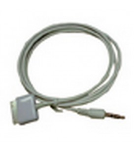 Audio cable for iPod connection to devices with aux input