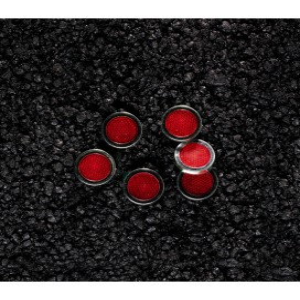 Adhesive reflectors REFLEX, red