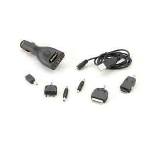CAVO UNIVERSALE MUTLIFUNZIONI CON ADATTATORE USB ACCENDISIGARI 5V-1A (DC12/24V)