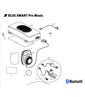 Bluetooth hands-free kit Blue smart Pro music MR HANDSFREE
