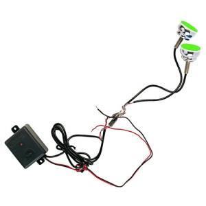 """Stroboskop-LED-Leuchten """"SPYCO"""" zweiteilige BLU fur Motorräder"""
