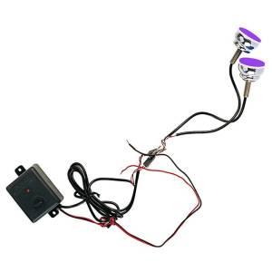 """Luces LED estroboscópicas """"SPYCO"""" para motocicletas BLU de dos piezas"""