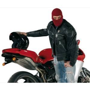 Under full-face helmet in goretex silk, red