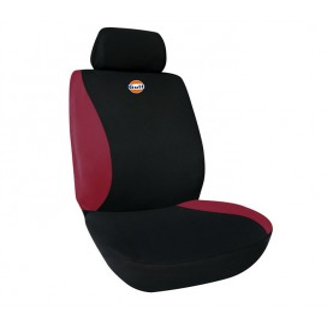 Fodera sedile singola Nero-Rosso