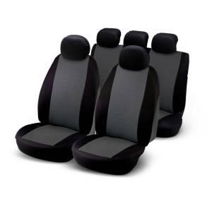 Set composé de 9 pièces: 2 housses de siège avant, 5 appuie-tête et 2 housses de siège arrière avec 3 fermetures à glissière