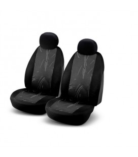 "Set of universal black elasticized seat cover ""JB2"""