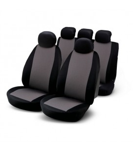 "Set of universal black and grey elasticized seat cover ""G9"""