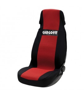 Universal black and red seat cover for truck