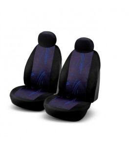 "Set of universal elasticized seat cover ""JB2"" black and blue"