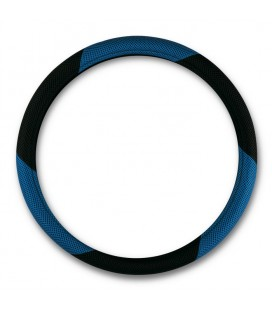 "steering wheel cover ""MESH"" black-blue diameter 37-39 CM"