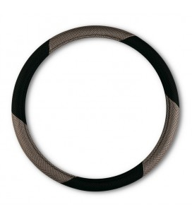 "Steering wheel cover ""MESH"" black-grey diemeter 37-39 CM"