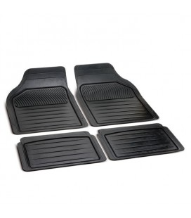 Tappeti universali per auto in gomma sagomabile PERFECT linea color nero - Set 4 pz