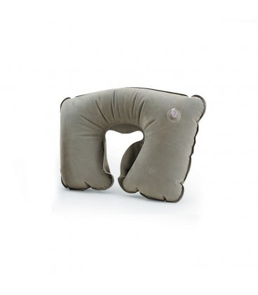 Anatomical inflatable travel pillow