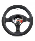 """ORION"" black leather-like steering wheel cover 37/39 cm"