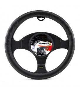 "Steering wheel cover ""ERGON"" with grey embroidery 37-39cm"