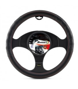"Steering wheel cover ""ERGON"" with red embroidery 37-39 cm"
