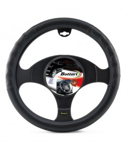 "Steering wheel cover ""ERGON"" with blue enbroidery 37-39 cm"
