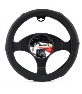 "Steering wheel cover ""EXAGON"" ultra-soft black 35/37 CM"