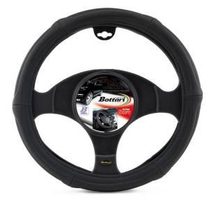 "Steering wheel cover ""EXAGON"" ultra-soft black 35/37 CM"