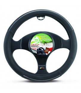 "Steering wheel cover ""F104"" with chrome inserts 35-37cm"