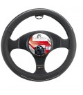 Steering wheel cover F104 Black with chromed inserts 37-39cm