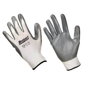 1 paio guanti da lavoro in nylon e nitrile