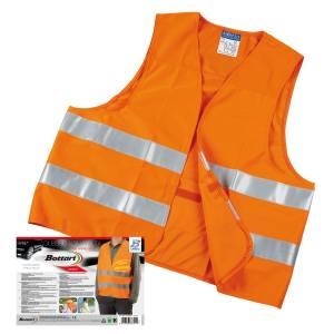 Gilet alta visibilità omologato per auto colore arancione