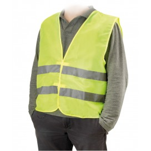 Gilet alta visibilità omologato per auto colore giallo