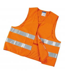 High visibility jacket. Made from fluorescent polyester Orange